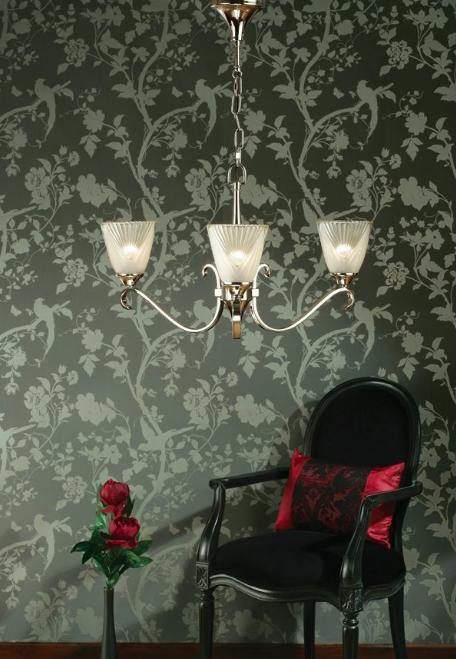 piękny szklany żyrandol z kryształami - salon